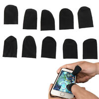 New 10Pcs Mobile Finger Sleeve TouchScreen Game Controller Sweatproof Gloves