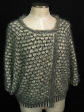 Anthropologie Moth Empyreal Grey Wool Angora Cardigan Sweater L $148