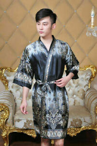 Chinese Silk Women Men Kimono Robe Gown bathrobe average size
