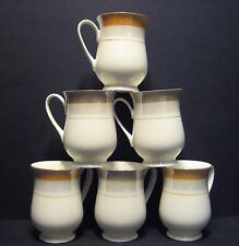 6 a Set of Six Luster Line Belly Shape Fine Bone China Mugs Beakers to Clear