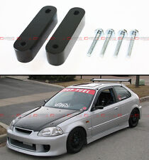 For 1988-2000 Honda Civic EG EK EM Black Motor Swap Hood Vent Riser Spacer X 2