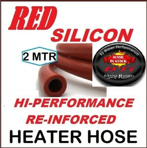 RED SILICONE HI PERF. REINFORCED HEATER HOSE -  12MM ID  x 2 METERS - FREE POST!