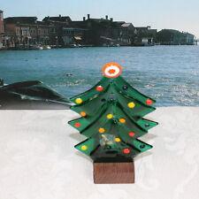 VETRO DI MURANO albero decorato murrina e porta candela in legno. MURANO GLASS