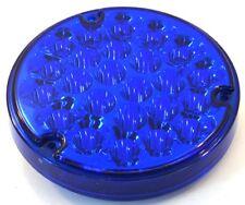 """LED light 4"""" pearl blue lens 24 blue diodes 1156 Socket Peterbilt Kenworth FL"""