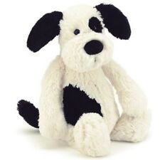 JELLYCAT Bashful Puppy Black Cream Dog 31cm NEW SOFT teddy Bear Medium toy White