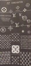 Designer nail art stamping plate (ZZ LV)