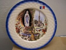 """Our Lady of Lourdes 10.25"""" Decorative Plate - Made in France"""