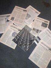 Sylvania News 1950 Company News & History. 10 Issues!