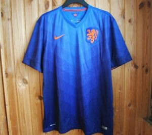 5/5 NETHERLANDS HOLLAND NATIONAL TEAM 2014 2015 AWAY FOOTBALL SHIRT JERSEY NIKE