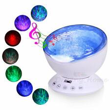 New Ocean Wave Music Star Night Light Projector Remote Lamp Baby Kids Bedroom US