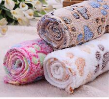 Warm Dog Cat Sleep Mat Pad Beds Fleece Soft Pet Blanket Kennel Cushion Thickness
