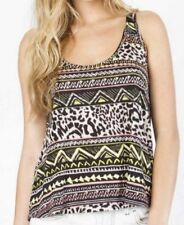 NWT WOMENS BILLABONG MIDDAY GLOW ANIMAL PRINT KNIT TANK TOP SHIRT M MEDIUM NEW