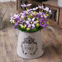 Country Style Rustic Primitive Jug Metal Pitcher Flower Vase Home Floral Decor