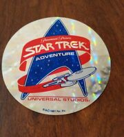 Star Trek Adventure Souvenir Sticker Paramount Pictures Universal Studios  1991