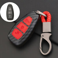 Remote Key Fob Cover Case Shell Carbon Fiber For Ford Fiesta Focus Mondeo Galaxy
