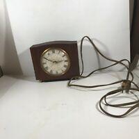 Vintage WESTCLOX Mahogany SHERATON Electric Alarm Clock