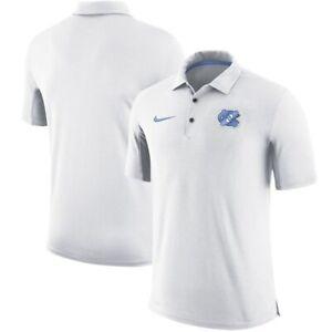 Nike Carolina UNC Tar Heels Mens White 2-Tone Team Issue Dri-FIT Polo NWOT Large