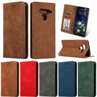 For LG G8 G8S K40 V50 Stylo 4 Stylo 5 Matte Wallet Leather Flip Folio Cover Case