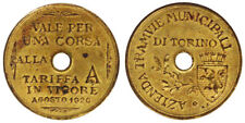 BUONO PER 1 CORSA ALLA TARIFFA A IN VIGORE 1920 TRAMVIE MUNICIPALI TORINO #6459A