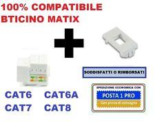 presa di rete dati rj45 cat6 cat6a cat7 cat8 compatibile bticino matix bianco