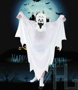 Ghost White Sheet Scary Costume Halloween Kids Child Adult Fancy Outfit