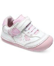 STRIDE RITE Soft Motion Bambi Sneaker Pink White Butterflies Size 3M Toddler