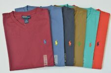 New Polo Ralph Lauren Classic-Fit V-Neck Cotton Jersey T-Shirt Short Sleeve Tee