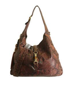 Gucci 218491 Large Python New Jackie Shoulder Bag