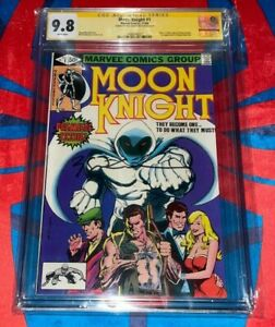 Moon Knight #1 CGC 9.8 Signed by Bill Sienkiewicz and Cover 🔥🔥 1980