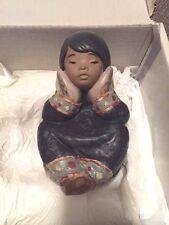 LLARDO FIGURINE 12158 PESIVE ESQUIMO GIRL ARCTIC WINTER NEW IN ORIGINAL BOX!