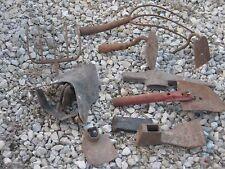 10 Vintage ? Used Shovel Pick Rakes Forks Garden Hammer Tools good for decor
