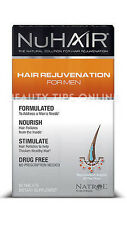 NuHair Hair Rejuvenation for Men Hair Regrowth Natrol Nu Hair 60 Tabs
