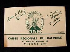 Buvard ancien crédit agricole mutuel caisse régionale du dauphine Vienne Isère