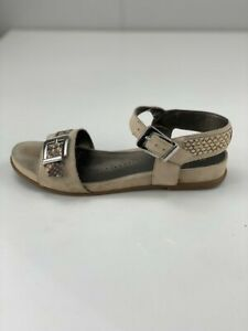 Naturalizer Womens N5 Contour Cairo Brown Leather Sling Back Sandal Flat Sz 6.5W