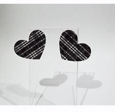 Design - Free Uk P&P.Cg1731 Acrylic Earrings - Tartan or Plaid