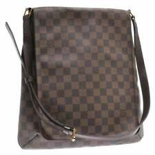 Auth. Louis Vuitton Damier Ebene Musette Crossbody Shoulder Handbag