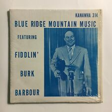 FIDDLIN BURK BARBOUR ~ OLD TIME FIDDLE LP ~ IN SHRINK LP ON SMALL LABEL RARE