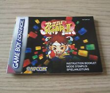 Super Puzzle Fighter II - PAL - Nintendo Gameboy Advance Instruction Manual