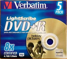 Neues Angebot5 Stück VERBATIM LightScribe DVD+R - 1-8x - 120min - 4.7GB - Jewelcase - NEU&OVP