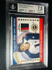 2001 Pacific Prism TOM BRADY Atomic Patch *1ST GAME WORN RC JERSEY 3CLR 7.5 BGS!