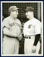 1936 Original Vintage BUMP HADLEY Yankees v Giants World Series!  Type 1 photo!