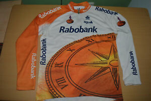 VTG RABOBANK COLNAGO CYCLING JERSEY SHIRT JACKET 1996 AGU MAILLOT MEN SIZE 8 2XL