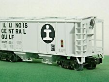 MTH O SCALE #20-97104 ILLINOIS CENTRAL 2 BAY COVERED HOPPER w/D C TRUCKS NIB
