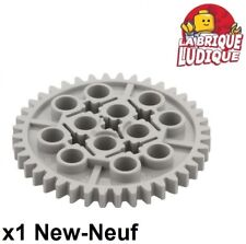 Lego technic - 1x engrenage pignon gear 40 tooth gris/light bluish gray 3649 NEW