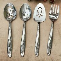 THOR 4PCE SERVING CUTLERY SET LIGHTWEIGHT STAINLESS STEEL FORK & SPOONS - TRAVEL