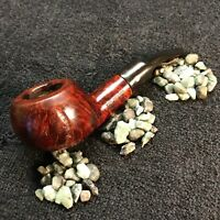 RESTORED nice large Tom Howard Squat Rustified Tomato vintage pipe w/ stinger
