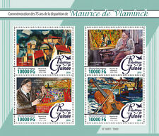 Guinée 2016 neuf sans charnière maurice de vlaminck 4v m/s machine bougival art paintings timbres