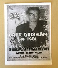 Jack Grisham T.S.O.L. Gig Flyer San Luis Obispo 2011