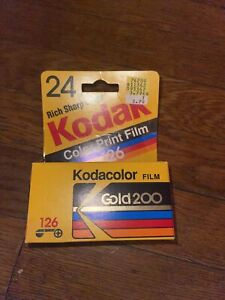 kodak vintage kodacolor gold 200 126 film new