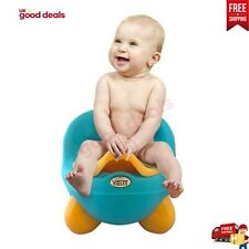 UK Kid Infant Baby Toddler Lidded Potty Safe Urinal Training Chair Seat Yellow